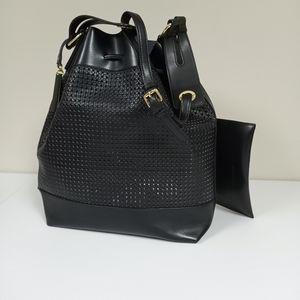 Vince Camuto Black Drawstring  Bag